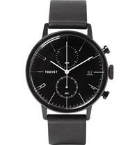 Tsovet Jpt Cc38 Stainless Steel And Leather Watch Black