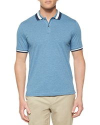Michael Kors Short Sleeve Tape Tipped Polo Shirt Blue