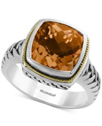 Effy Collection Effy Citrine Ring 4 Ct. T.W. In 18K Gold And Sterling Silver
