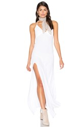 Blue Life One Slit Halter Maxi White