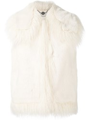 Stella Mccartney Faux Fur Gilet Nude Neutrals