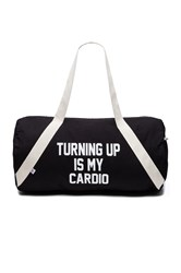 Private Party Turning Up Is My Cardio Gym Bag Black
