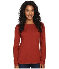 Royal Robbins Go Everywhere Merino Crew Ruby Women's Long Sleeve Pullover Red