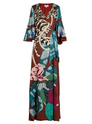 Temperley London Catalina Crepe De Chine Gown Multi