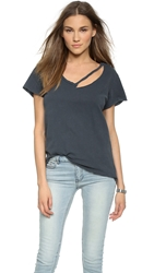 Lna Fallon V Neck Tee Vintage Black