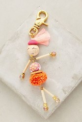 Anthropologie Performance Artist Keychain Orange