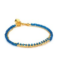 Astley Clarke Biography Ocean Quartz Beaded Double Row Friendship Bracelet Gold Lapis Lazuli