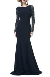 Theia Women's Embellished Tulle And Crepe Mermaid Gown