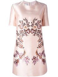 Stella Mccartney Embroidered Floral Design Dress Pink And Purple