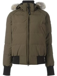 Canada Goose Hooded Padded Jacket Green