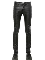 Saint Laurent 15Cm Skinny Stretch Faux Leather Jeans