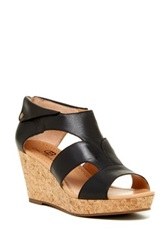 Ciao Bella Lucy Cork Wedge Sandal Black