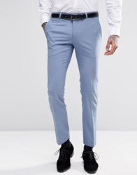 Noose And Monkey Suit Trousers With Stretch In Super Skinny Fit Sky Blue