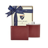 Aspinal Of London Mens Wallet Gift Set Cognac