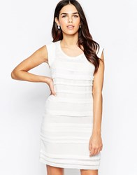 Lavand Striped Textured Shift Dress W