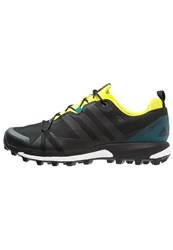 Adidas Performance Terrex Agravic Gtx Walking Shoes Dark Grey Core Black Bright Yellow