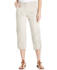 Styleandco. Style And Co. Cargo Capri Pants Stonewall