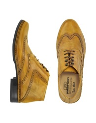 Pakerson Ocher Handmade Italian Leather Wingtip Ankle Boots