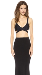 Unif Aftermath Crop Top Black