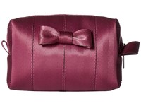 Harveys Seatbelt Bag Mini Bow Dopp Kit Plum Handbags Purple