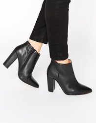 Selected Femme Thora Black High Heeled Leather Ankle Boots Black