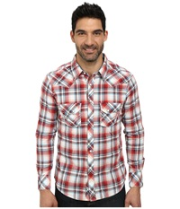 Rock And Roll Cowboy Long Sleeve Snap B2s3000 Red Men's Long Sleeve Button Up