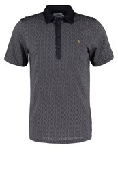 Farah Critchley Polo Shirt True Navy Dark Blue