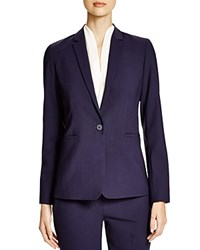 Elie Tahari Darcy Stretch Wool Blazer Navy