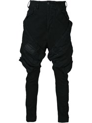 Julius Tapered Cargo Trousers Black