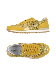 Twin Set Simona Barbieri Footwear Low Tops And Trainers Women Yellow