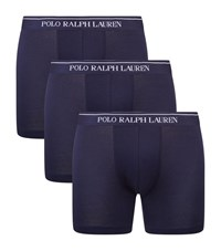 Polo Ralph Lauren Logo Waistband Boxer Briefs Set Of 3 Male Navy