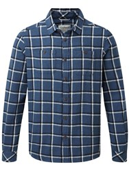 Craghoppers Men's Gillam Check Long Sleeved Shirt Blue