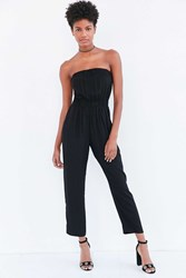 Silence And Noise Strapless Jumpsuit Black