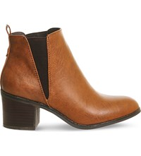 Office Lexi Faux Leather Chelsea Boots Tan