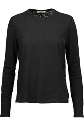 J Brand Montara Slub Cotton Top Black