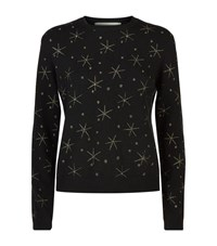 Valentino Star Wool Cashmere Jumper Female Black