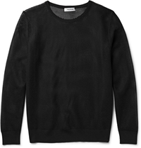 Tim Coppens Mesh Backed Wool Sweater Black