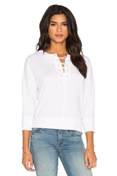 Michael Stars Lace Up Top White