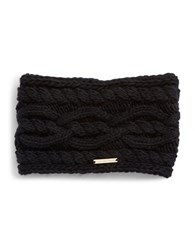Michael Michael Kors Cable Knit Headband Black