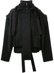 Craig Green Strip Detail Neoprene Cropped Jacket Black