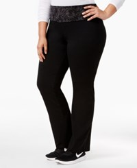 Styleandco. Style Co. Plus Size Tummy Control Yoga Pants Only At Macy's Black Combo