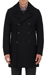 Sealup Men's Wool Blend Double Breasted Peacoat Black