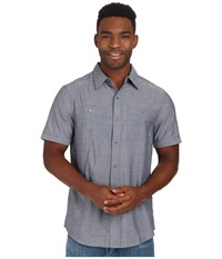 Merrell Coaster Chambray Shirt Ink Chambray Men's Short Sleeve Button Up Black