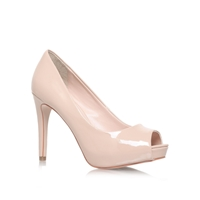 Carvela Lara High Heel Peep Toe Court Shoes Nude
