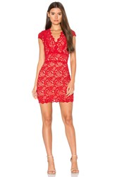 Nightcap Debut Cap Sleeve Mini Dress Red