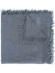 Attachment Fringed Scarf Grey
