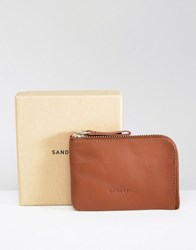 Sandqvist Penny Leather Wallet In Brown Brown