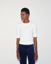 Julien David Ribbed T Shirt White