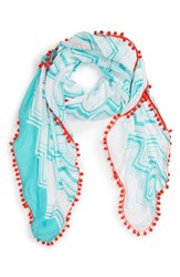 Women's Shiraleah 'Julia' Pompom Trim Scarf