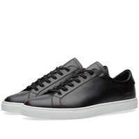 Common Projects Retro Low Boxed Leather Black